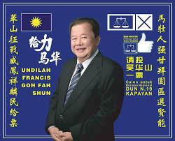 Datuk Francis Goh, MCA/BN candidate for Kepayan. Img from MCA Penampang's Facebook.