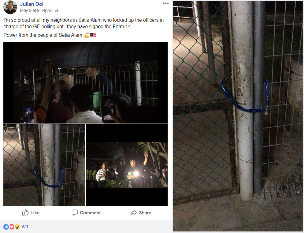 We wonder if this took the officials by SPRise. Screencap from FB.