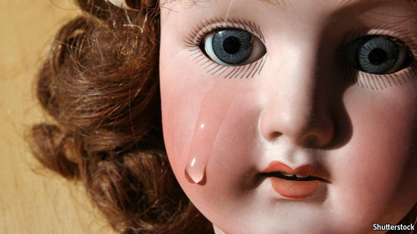 sad crying doll