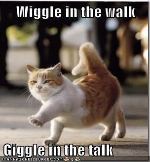 wiggle in the walk giggle in the talk