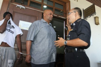 N. Thevananthan at the Magistrate Court, Penang. Image from The Sun Daily