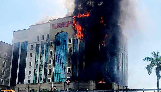 epf kwsp fire building