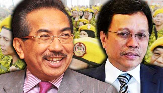 Musa Aman vs Shafie Apdal. Image from FMT