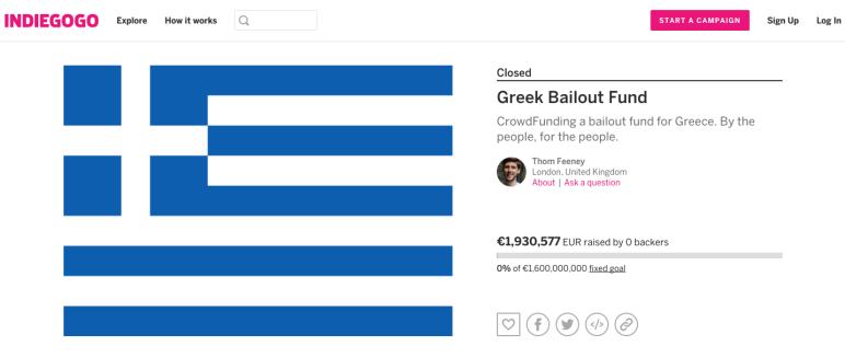 Screengrab of Greek Bailout Fund.