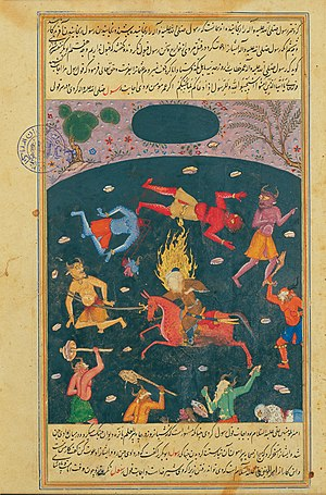 Djinns (the ones not on the horse) are an important part of Muslim lore. Img from Wikipedia.
