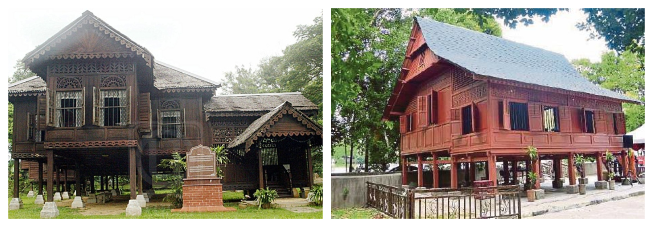 Well... Malay traditional house (left) and Bugis house (right). Images from Berita Harian and Utusan