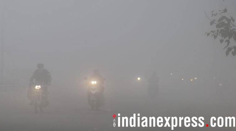 Imagine driving in this weather. Img from indianexpress.com