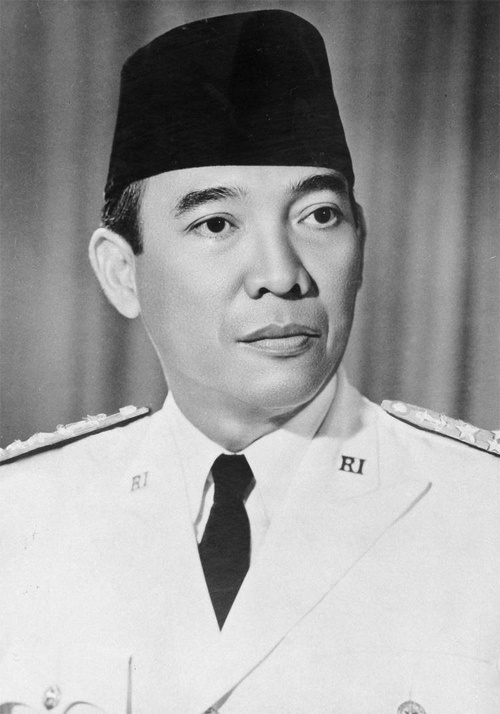 President Sukarno of Indonesia. Image from NZ History