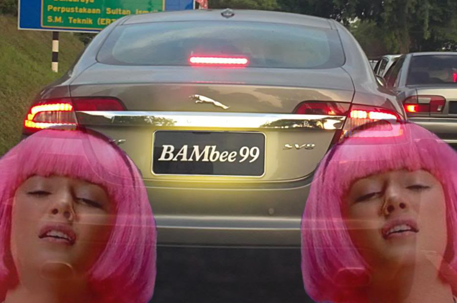 My number plate brings all the boys to the yard. Imgs from ReactionImage and ZerotoHundred.