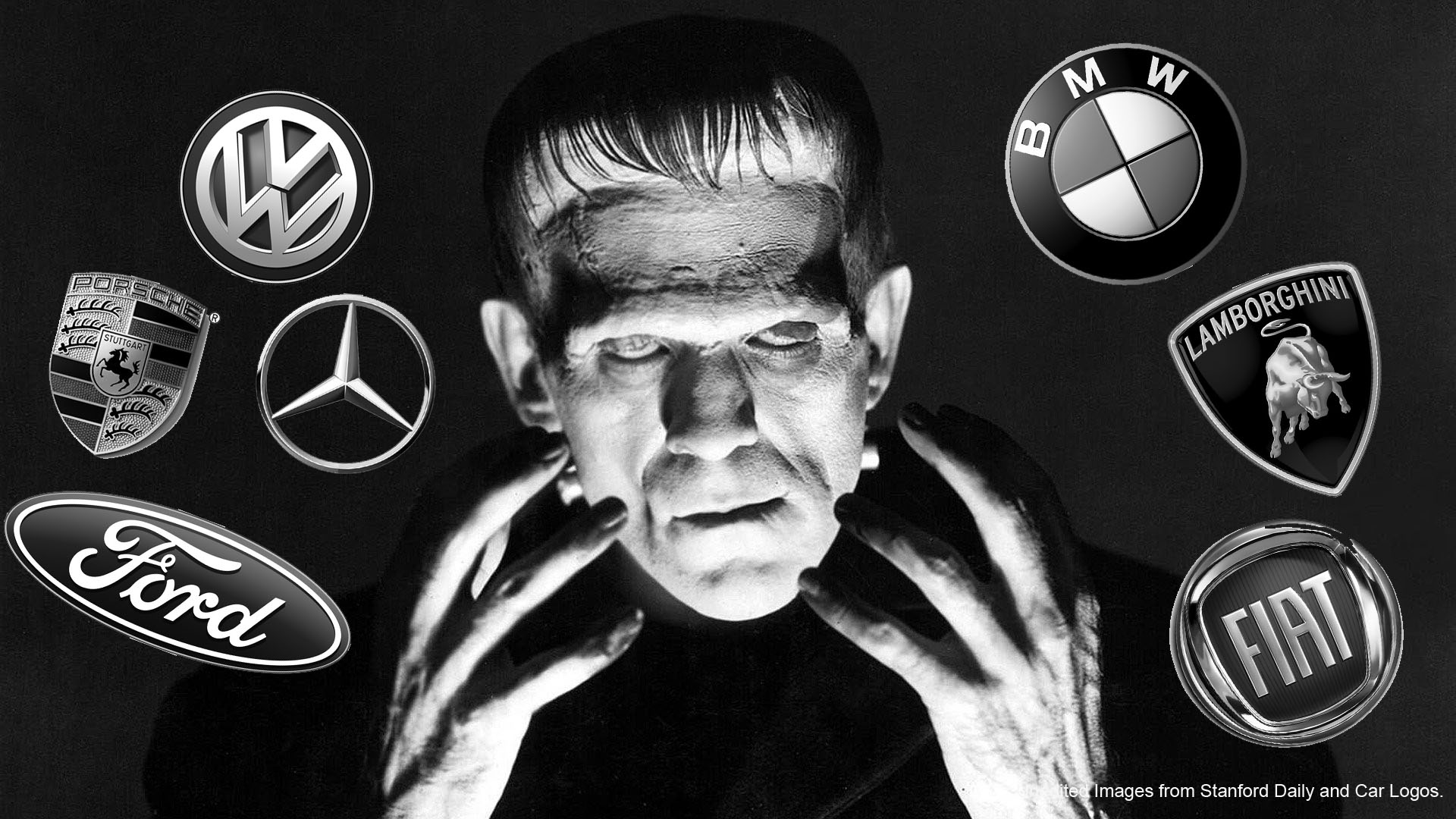 Frankenstein shares.. Well, not exactly like this. Images from Stanford Daily and Car Logos.