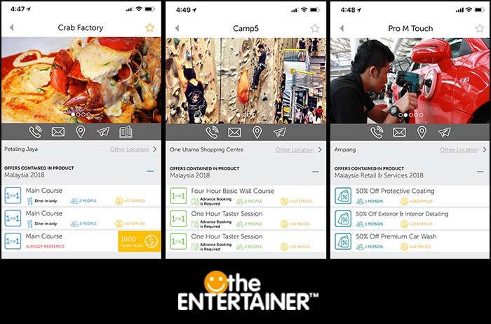 Screengrabs from our TE app