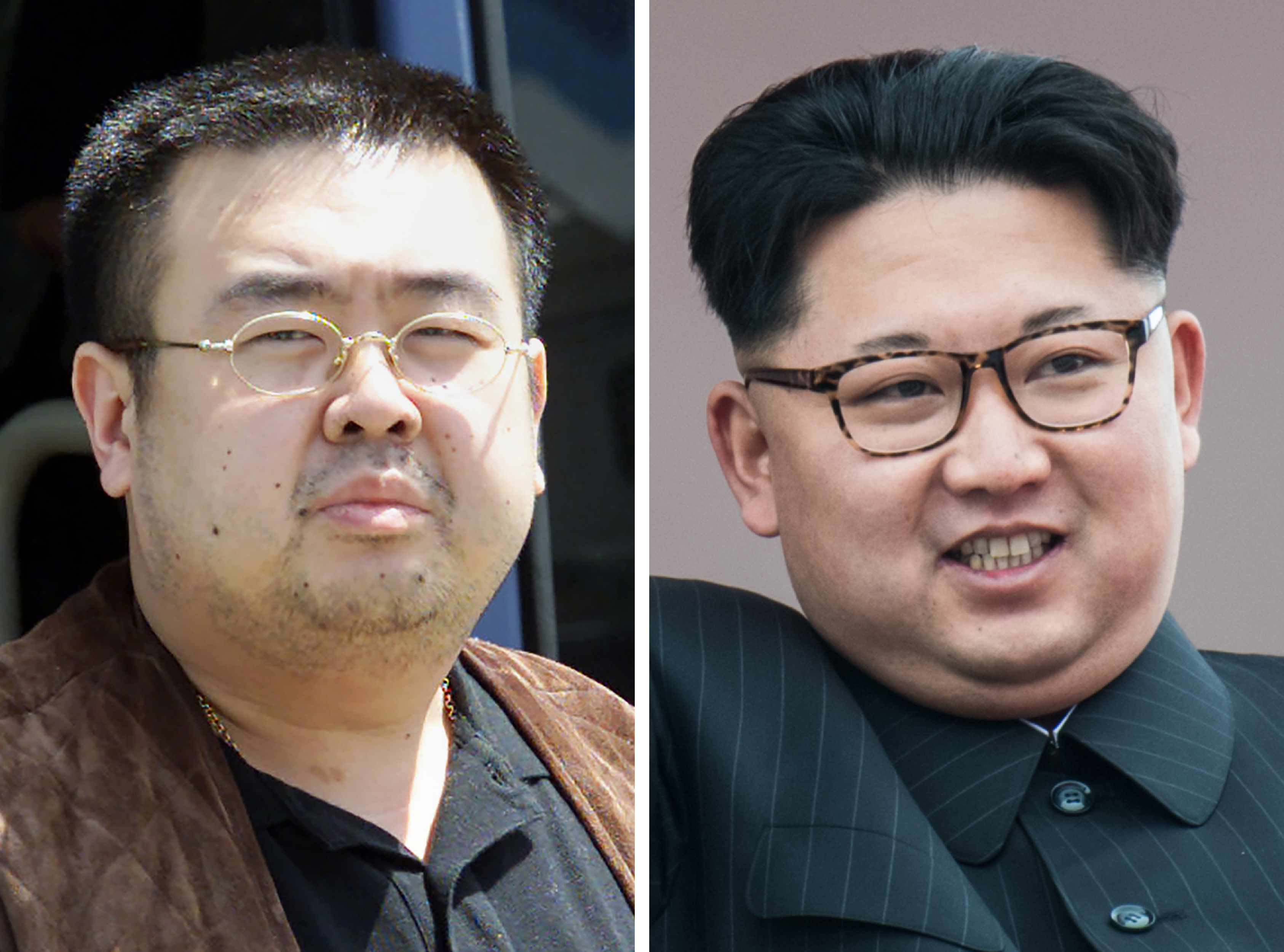 Kim Jong Nam on the left, and Supreme™ Leader Kim Jong Un on the right. Image from Time