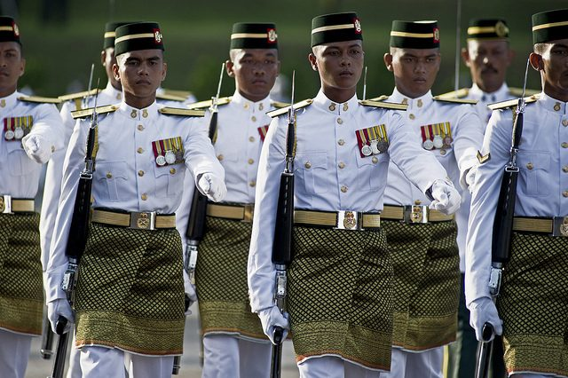 The Royal Malay Regiment in ceremonial uniform. Image from: The Patriots