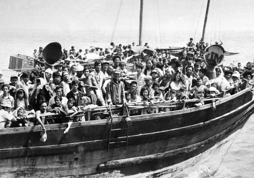 The Vietnamese boat people. Image from: