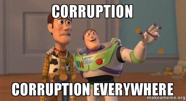 Can have an issue without corruption onot? Haiz. Img from Gags.lk.