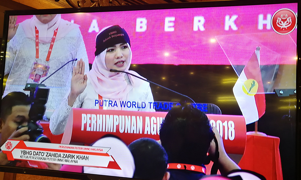 Nope, that's not a sweatband. Image from Malaysiakini