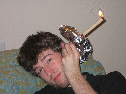 Bruh that's not how you do ear candling. Photo from cbsnews.com