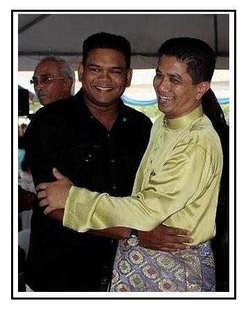 Lokman and Azmin Ali during friendlier days. Image from TranungKite Online