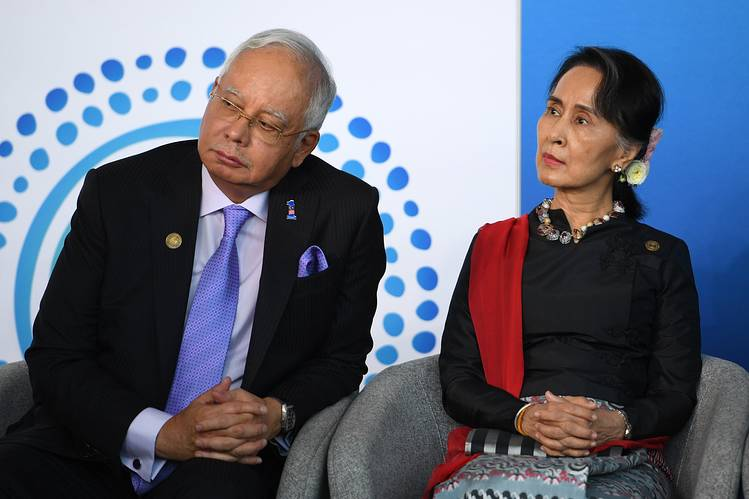 najib and suu kyi