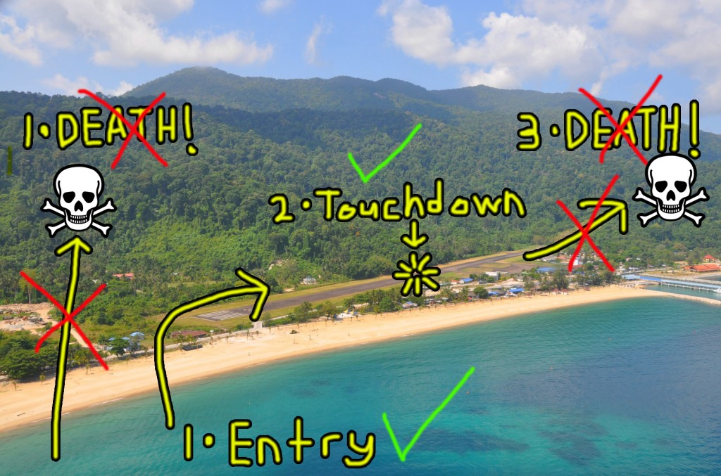 How we imagine the landing instructions for Tioman's airport look like. Image from: Wikipedia