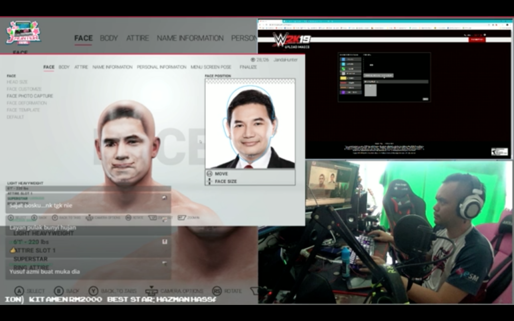 JandaHunter's 'Making Of' video, where he shows how he creates characters on WWE 2K19. For full video, click here.