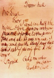 The 'From Hell' letter. Image from: Wikipedia