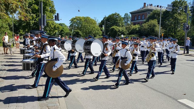 VI's brass band is so famous it took part in the street parade in Copenhagen. Image from MalayMail