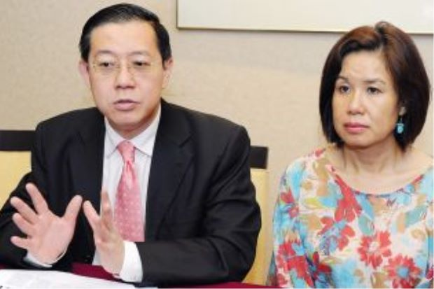 Guan Eng and his wife, Betty. Image from The Star