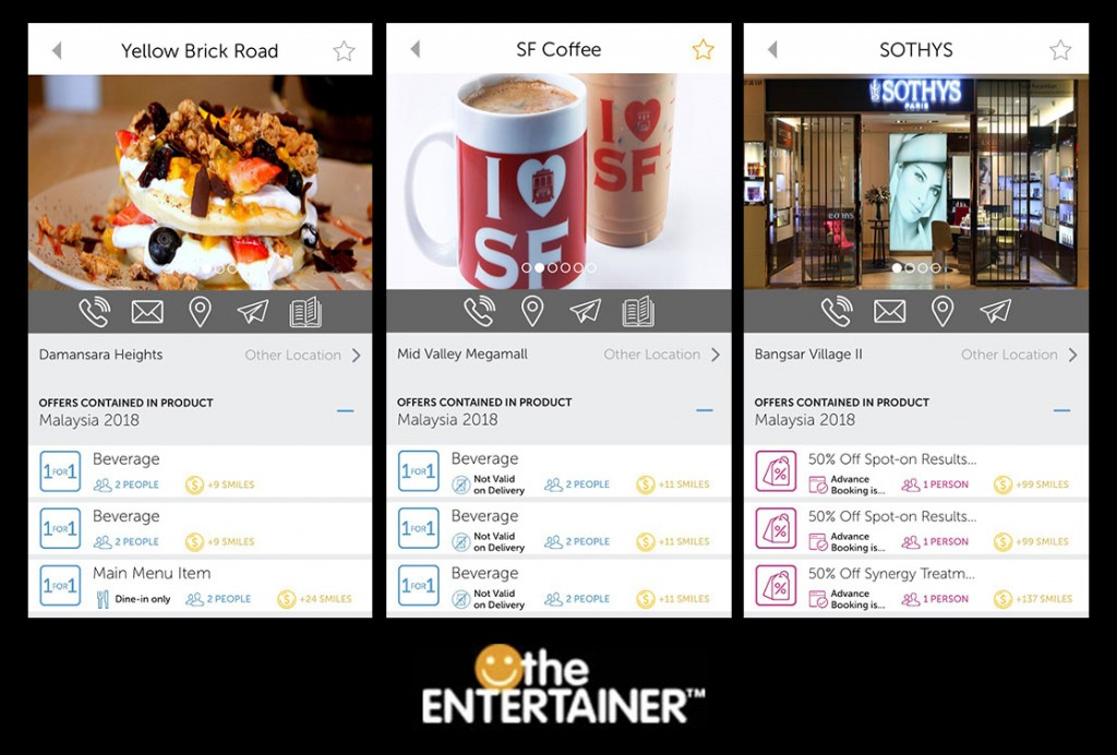 Screengrabs from our the ENTERTAINER app!