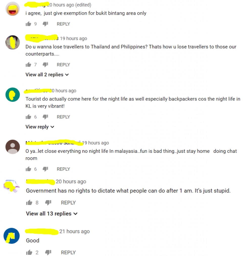 Mixed reactions. Comments from Youtube.