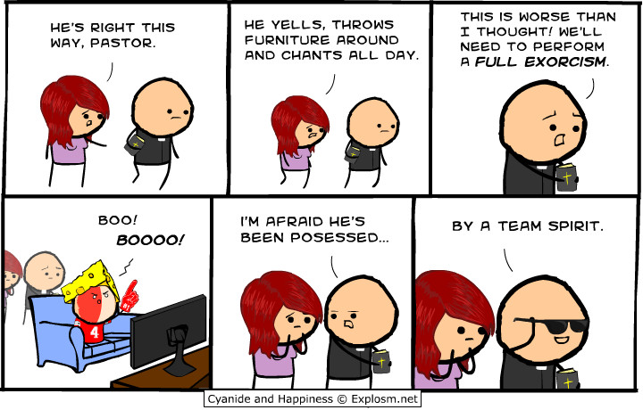 Get into the team spirit today! Img from Explosm.net.