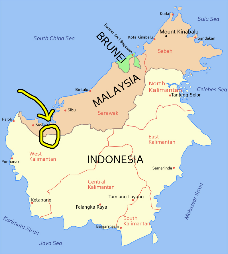 The incident happened somewhere here. Image from: Wikipedia