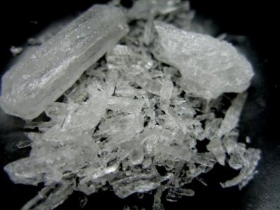 A.k.a Crystal, meth, ice, glass and blue diamond. Image from Wikipedia.