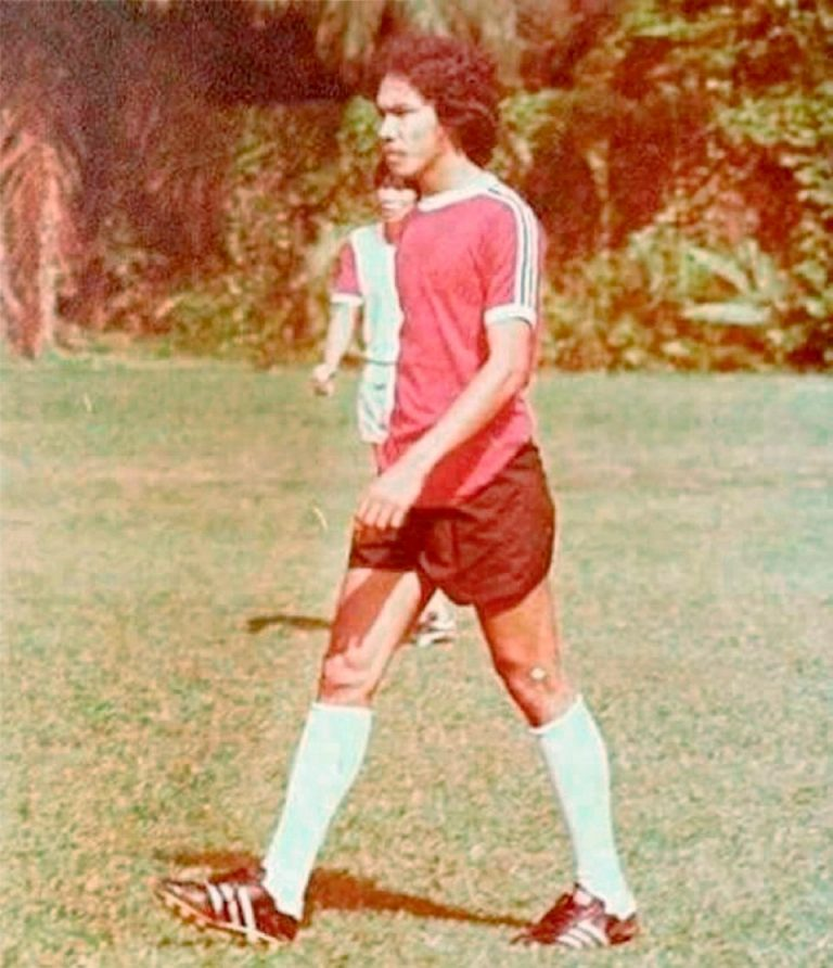 When he played for NS Malays in the 70s. Image from Berita Harian.