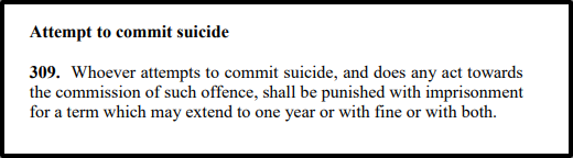 Section 309 of the Penal Code. Screenshot from the Penal Code