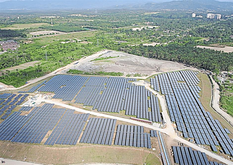 Solar plant taking space. Image from The Star.