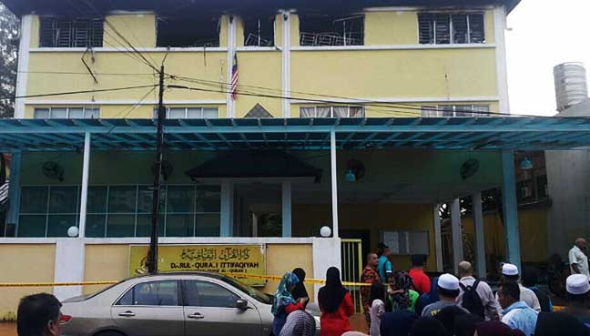 The affected tahfiz. Image from FMT.