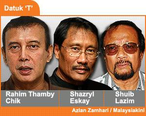 First of all, here are the Datuk Ts. Secondly, they're not a boyband. Image from Simonkajang's WordPress