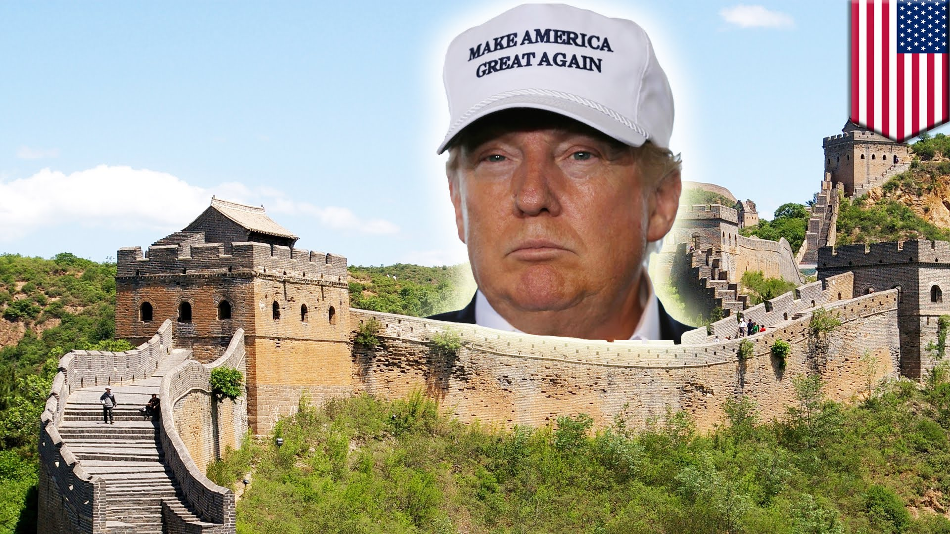 He probably got the inspiration from the Great Wall of China. Img from Collective Revolution