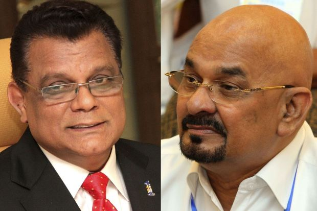 MyPPP now has two leaders: Kayveas (left) and D'Cruz (right). Img from The Star.