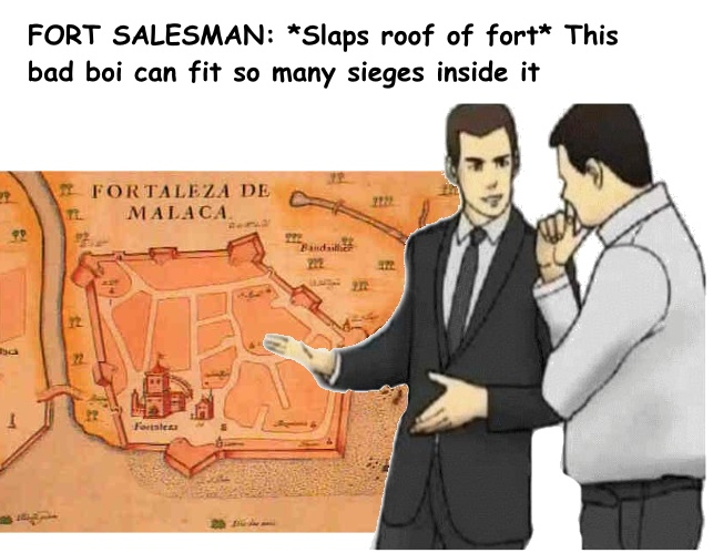 It's an old meme, but like the fort, it still works