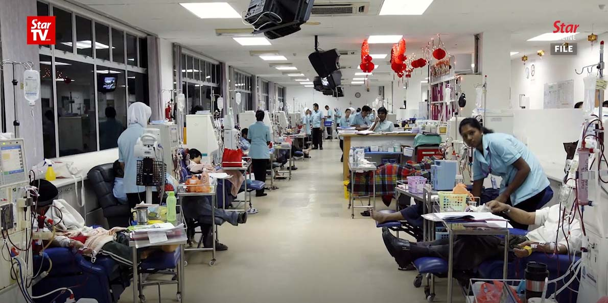 Inside Mawar Haemodialysis Centre. Img from The Star