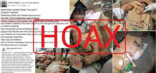 Example of a hoax. Img from All Singapore Stuff.