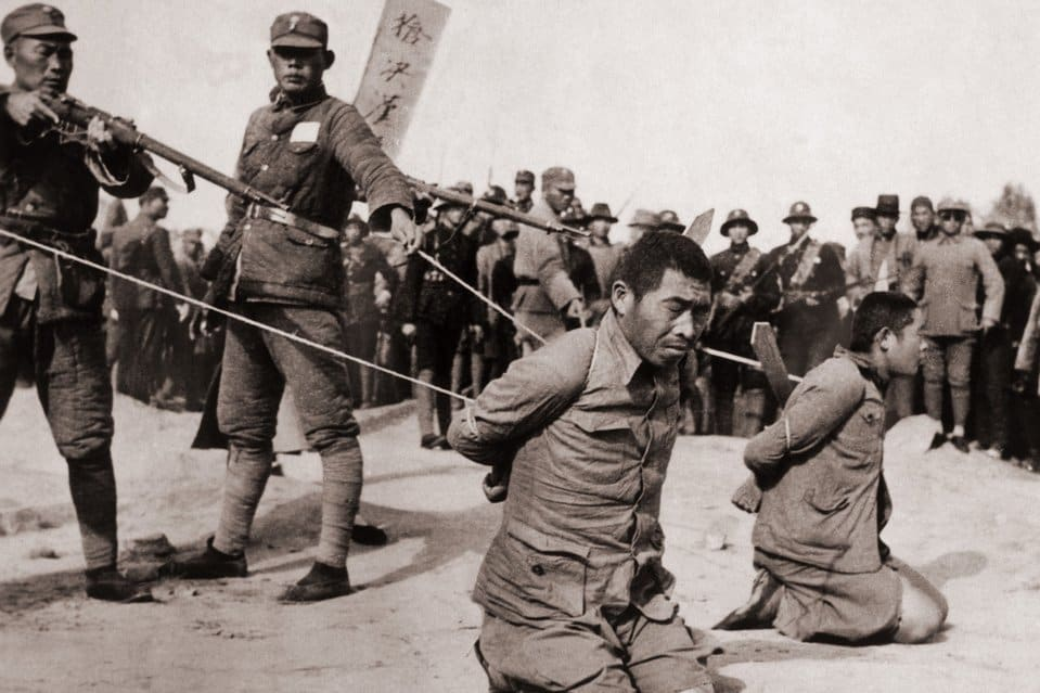 The Kempetai during the 'Sook Ching' massacre of Chinese people in Singapore and Malaya. Image from LOLWOT