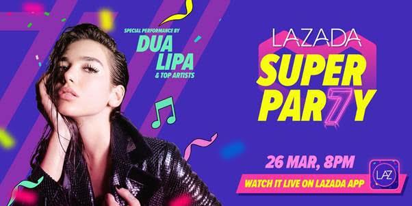 Catch Dua Lipa live on the Lazada app, 8.30pm 26th March 2019