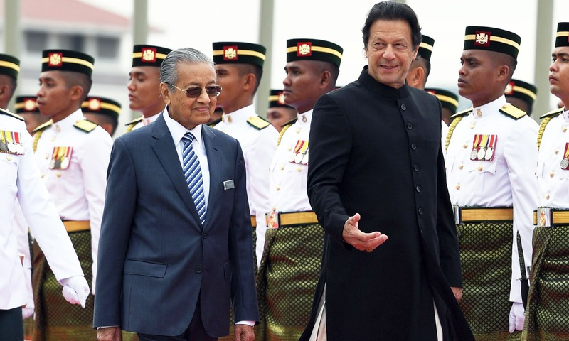 Mahathir with Imran Khan. Image from Dawn