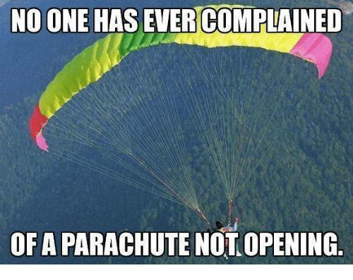 parachute meme