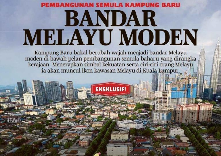 An old newspaper clipping of Kampung Baru's redevelopment plans. Img from apakataorang.com