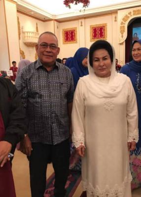 Saidi Abang Samsudin (left) and Rosmah. Img from Sarawak Report