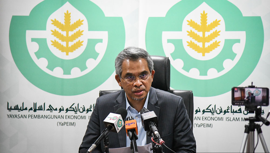 Mohd Daud Bakar during a Yapeim press conference. Image from Malaysiakini